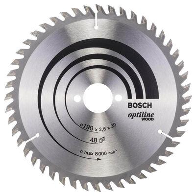 Bosch Optiline Serisi Ahşap için Daire Testere Bıçağı 190*30 mm 48 Diş