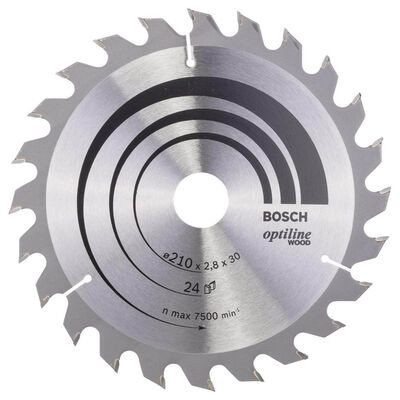 Bosch Optiline Serisi Ahşap için Daire Testere Bıçağı 210*30 mm 24 Diş