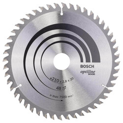 Bosch Optiline Serisi Ahşap için Daire Testere Bıçağı 210*30 mm 48 Diş - Thumbnail