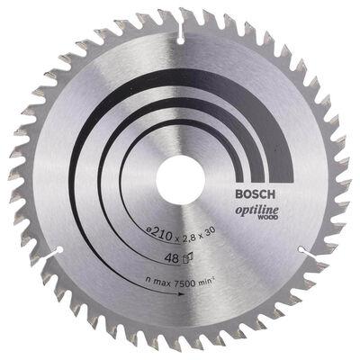 Bosch Optiline Serisi Ahşap için Daire Testere Bıçağı 210*30 mm 48 Diş