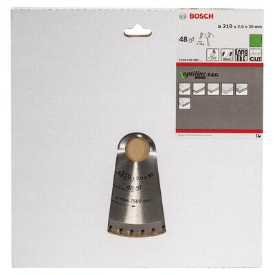 Bosch Optiline Serisi Ahşap için Daire Testere Bıçağı 210*30 mm 48 Diş BOSCH