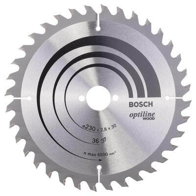 Bosch Optiline Serisi Ahşap için Daire Testere Bıçağı 230*30 mm 36 Diş
