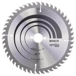 Bosch Optiline Serisi Ahşap için Daire Testere Bıçağı 230*30 mm 48 Diş - Thumbnail