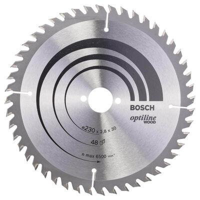 Bosch Optiline Serisi Ahşap için Daire Testere Bıçağı 230*30 mm 48 Diş
