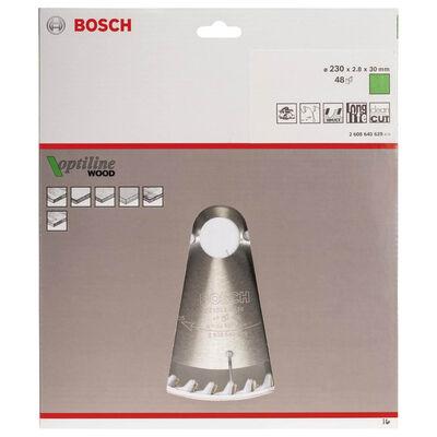 Bosch Optiline Serisi Ahşap için Daire Testere Bıçağı 230*30 mm 48 Diş BOSCH