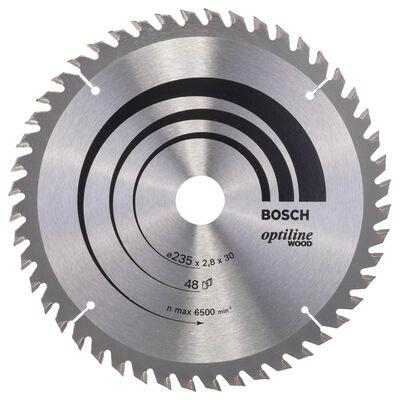 Bosch Optiline Serisi Ahşap için Daire Testere Bıçağı 235*30/25 48 Diş