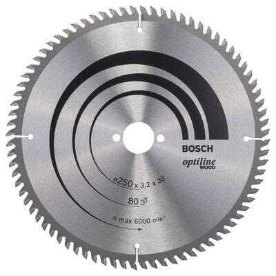Bosch Optiline Serisi Ahşap için Daire Testere Bıçağı 250*30 mm 80 Diş