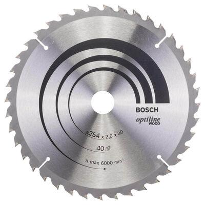 Bosch Optiline Serisi Ahşap için Daire Testere Bıçağı 254*30 mm 40 Diş