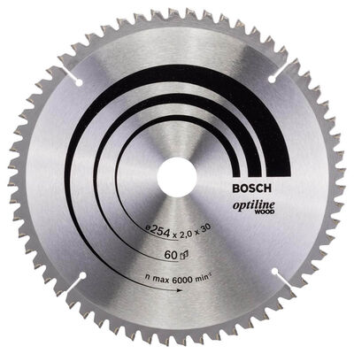 Bosch Optiline Serisi Ahşap için Daire Testere Bıçağı 254*30 mm 60 Diş