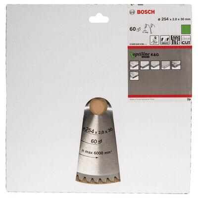 Bosch Optiline Serisi Ahşap için Daire Testere Bıçağı 254*30 mm 60 Diş BOSCH