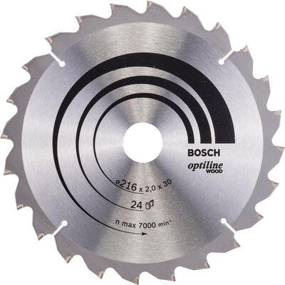 Bosch Optiline Serisi Ahşap için Daire Testere Bıçağı B 216x30 mm-24 Diş