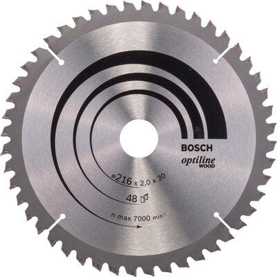 Bosch Optiline Serisi Ahşap için Daire Testere Bıçağı B 216x30 mm-48 Diş