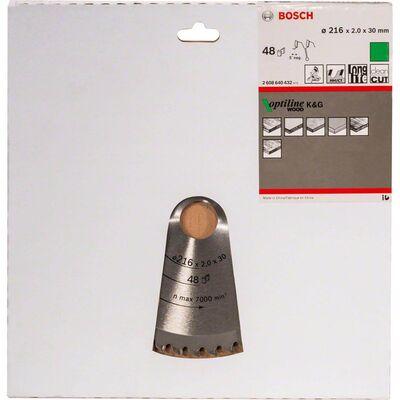 Bosch Optiline Serisi Ahşap için Daire Testere Bıçağı B 216x30 mm-48 Diş BOSCH