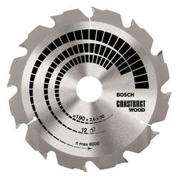 Bosch Optiline Serisi İnşaat Ahşabı için Daire Testere Bıçağı 190*30 mm 12 Diş - Thumbnail