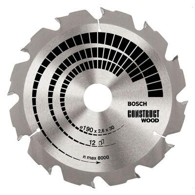 Bosch Optiline Serisi İnşaat Ahşabı için Daire Testere Bıçağı 190*30 mm 12 Diş