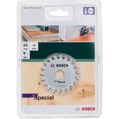 Bosch PKS16 Çoklu Malzeme için Daire Testere Bıçağı 65x15 mm-20 Diş BOSCH