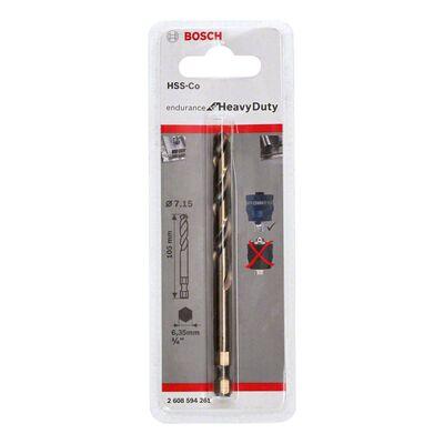 Bosch Power Change Plus Endurance Serisi Karpit Delik Açma Testereleri için HSS-Co Merkezleme Ucu 7,15 x 105 mm BOSCH