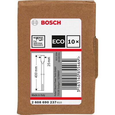 Bosch SDS-Max Şaftlı Yassı Keski 400*25 mm 10'lu EKO BOSCH