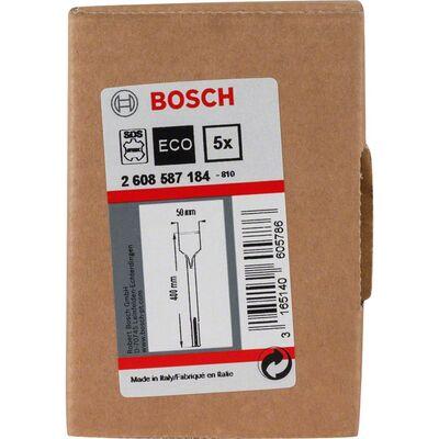 Bosch SDS-Max Şaftlı Yassı Keski 400*50 mm 5'li BOSCH