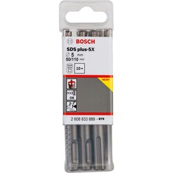Bosch SDS-Plus-5X Serisi Kırıcı Delici Matkap Ucu 5*110 mm 10'lu - Thumbnail