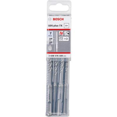 Bosch SDS-Plus-7X Serisi Kırıcı Delici Matkap Ucu 7*165 mm 10'lu BOSCH