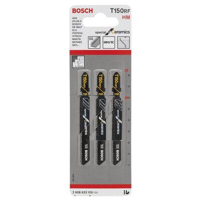 Bosch Seramik İçin Özel T 150 RIFF Dekupaj Testeresi Bıçağı - 3'Lü Paket BOSCH