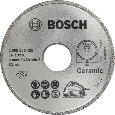 Bosch Seramik İçin PKS 16 Multi Uyumlu Elmas Kesme Diski 65 x 15mm