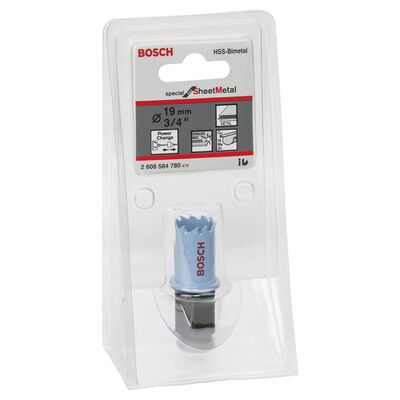 Bosch Special Serisi Metal Ve Inox Malzemeler için Delik Açma Testeresi (Panç) 19 mm BOSCH