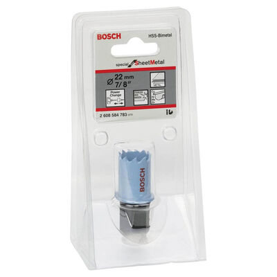 Bosch Special Serisi Metal Ve Inox Malzemeler için Delik Açma Testeresi (Panç) 22 mm BOSCH