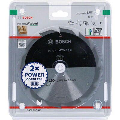 Bosch Standard for Serisi Ahşap için Akülü Daire Testere Bıçağı 160*20 mm 12 Diş BOSCH