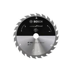 Bosch Standard for Serisi Ahşap için Akülü Daire Testere Bıçağı 165*20 mm 24 Diş - Thumbnail