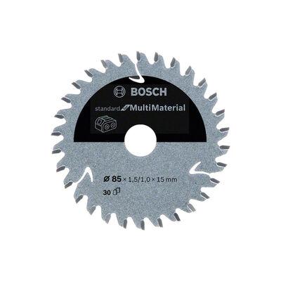 Bosch Standard for Serisi Çoklu Malzeme için Akülü Daire Testere Bıçağı 85*15 mm 30 Diş
