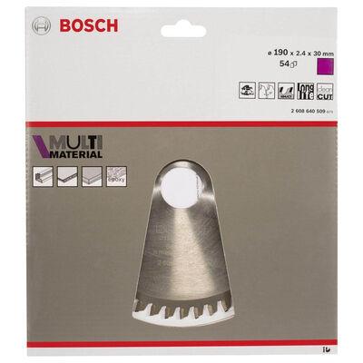 Bosch Standard for Serisi Çoklu Malzeme için Daire Testere Bıçağı 190*30 mm 54 Diş BOSCH