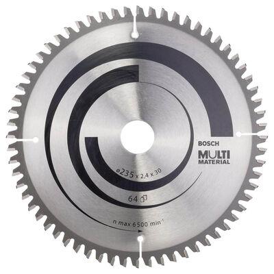 Bosch Standard for Serisi Çoklu Malzeme için Daire Testere Bıçağı 235*30/25 mm 64 Diş