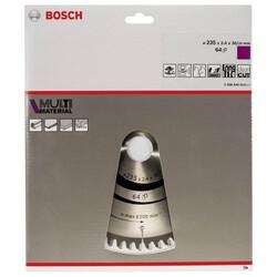 Bosch Standard for Serisi Çoklu Malzeme için Daire Testere Bıçağı 235*30/25 mm 64 Diş - Thumbnail