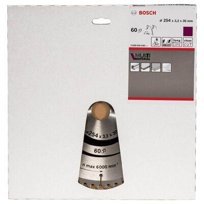 Bosch Standard for Serisi Çoklu Malzeme için Daire Testere Bıçağı 254*30 mm 60 Diş BOSCH