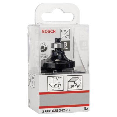 Bosch Standard Seri Ahşap İçin Çift Oluklu, Sert Metal Bilya Yataklı Yuvarlama Frezesi 8*10*57 mm BOSCH