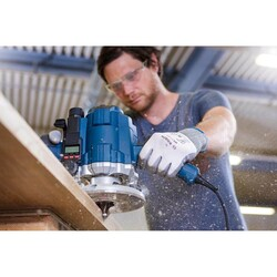 Bosch Standard Seri Ahşap İçin Çift Oluklu, Sert Metal Dalma Yarımay Freze 8*20*46*10 mm - Thumbnail