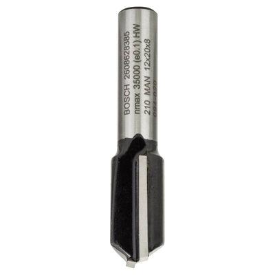 Bosch Standard Seri Ahşap İçin Çift Oluklu, Sert Metal Düz Freze Ucu 8*12*51mm
