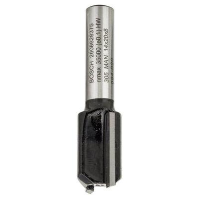 Bosch Standard Seri Ahşap İçin Çift Oluklu, Sert Metal Düz Freze Ucu 8*14*51mm