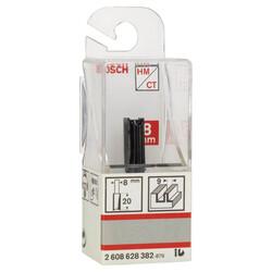 Bosch Standard Seri Ahşap İçin Çift Oluklu, Sert Metal Düz Freze Ucu 8*9*51 mm - Thumbnail