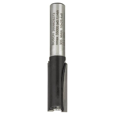 Bosch Standard Seri Ahşap İçin Çift Oluklu, Sert Metal Ekstra Uzun Düz Freze Ucu 8*10*56mm