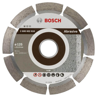 Bosch Standard Seri Aşındırıcı Malzemeler İçin Elmas Kesme Diski 125 mm
