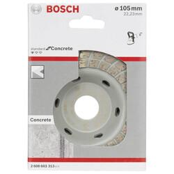 Bosch Standard Seri Beton İçin Elmas Çanak Disk Turbo 105 mm - Thumbnail