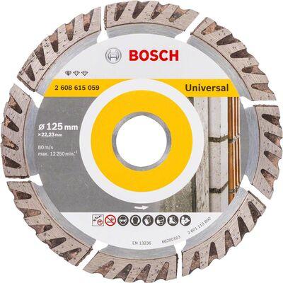Bosch Standard Seri Genel Yapı Malzemeleri İçin Elmas Kesme Diski 125 mm