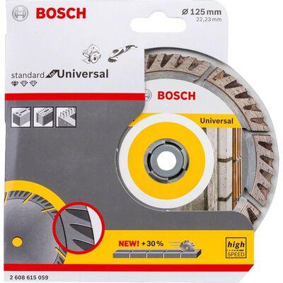 Bosch Standard Seri Genel Yapı Malzemeleri İçin Elmas Kesme Diski 125 mm BOSCH