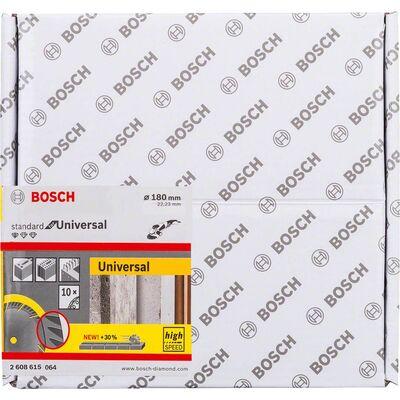 Bosch Standard Seri Genel Yapı Malzemeleri İçin Elmas Kesme Diski 180 mm 10'lu Paket BOSCH