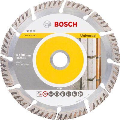 Bosch Standard Seri Genel Yapı Malzemeleri İçin Elmas Kesme Diski 180 mm