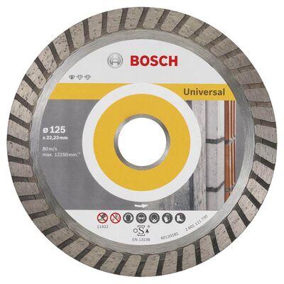 Bosch Standard Seri Genel Yapı Malzemeleri İçin Turbo Segmanlı 9+1 Elmas Kesme Diski Set 125 mm