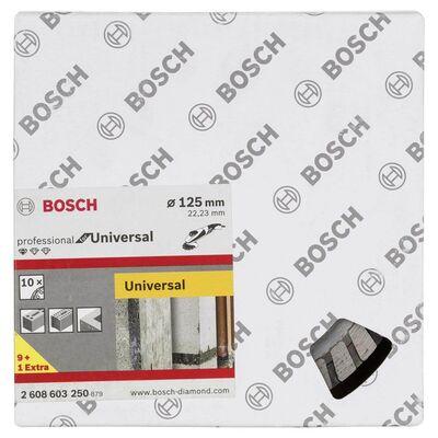 Bosch Standard Seri Genel Yapı Malzemeleri İçin Turbo Segmanlı 9+1 Elmas Kesme Diski Set 125 mm BOSCH
